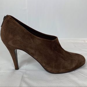 J. CREW BRONSON BROWN SUEDE ANKLE BOOTIES 3 1/2""